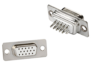 Cable mount high density D-sub connectors