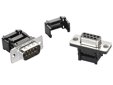 Cable mount IDC D-sub connectors