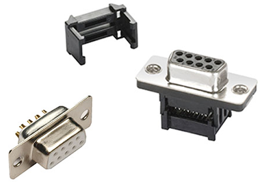 Cable mount D-sub connectors