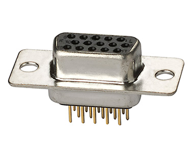 PCB mount high density right-angle vertical D-sub connectors