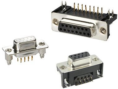 PCB mount D-sub connectors