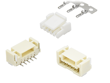 1.25 mm latched wire to board connectors